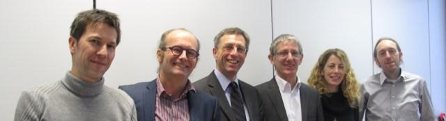 Paul Schosseler, directeur du CRTE, Claude Turmes, député européen, Marc Lemmer, directeur général (CRP Henri Tudor), Joëlle Welfring, Business Development Director (CRP Henri Tudor), Dan Michels