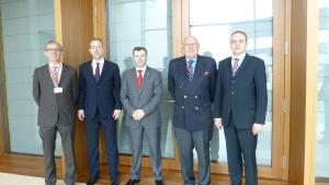 Meeting mat der Serbescher Delegation, zesummen mam Norbert Haupert (Mëtt)
