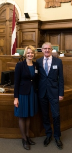 At the Saeima with Lolita Čigāne  Chairperson of the European Affairs Committee