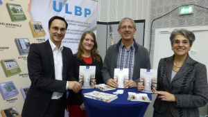 17. November 2012 Walfer Bicherdeeg Claude Conter (Direkter CNL), Tanja Duhr (Secret. ULBP), Claude Adam (Pres. ULBP), Monique Kieffer (Direktesch BnL)